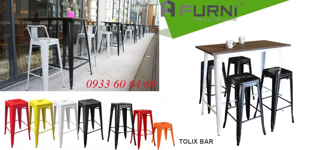 Bàn ghế Tolix bar dành cho nhà hàng, quán cafe Tp. HCM