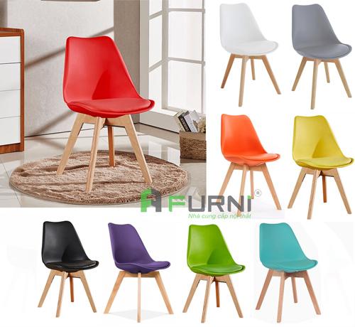 Bảng màu ghế ăn có nệm ngồi đẹp hiện đại DSW-P1