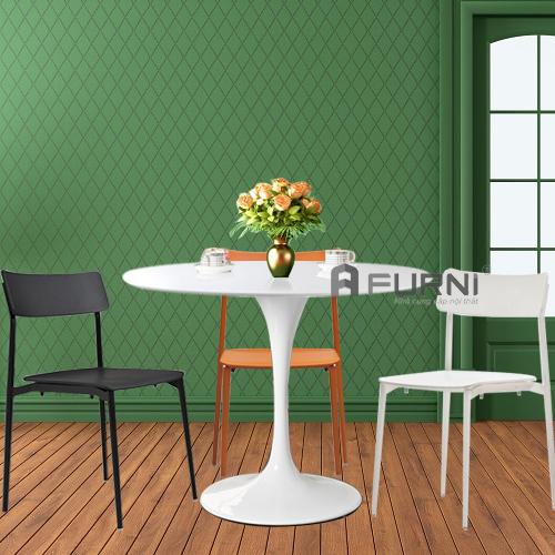 Bộ bàn ăn gia đình đẹp gọn gàng BA TULIP CULT