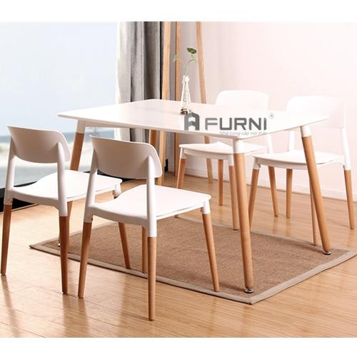 Bộ bàn ghế ăn gia đình đẹp đơn giản giá rẻ BA DAW FILLY
