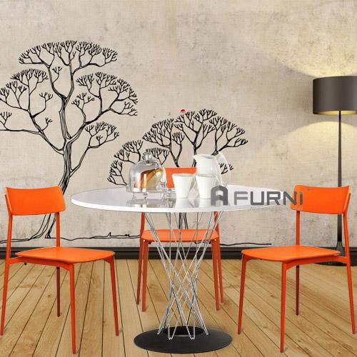 Bộ bàn ghế ăn gia đình đẹp BA CYCLONE CULT rất bền chắc chắn phù hợp nội thất hiện đại