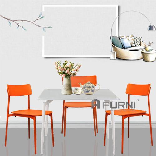 Bộ bàn ghế ăn gia đình 4 người đẹp cao cấp sang trọng nhập Ý BA CULT08