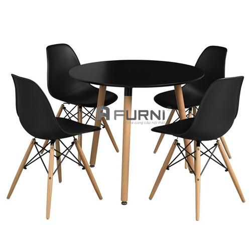 Bộ bàn ghế cafe nhà hàng đẹp giá rẻ bàn TE DAW-08W ghế DSW-S7