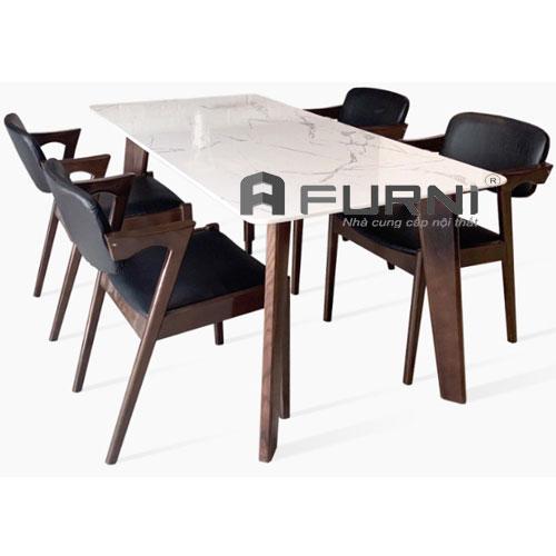 Bộ bàn ăn dài 1m8 gồm 6 ghế BA HOWARD KAI 18
