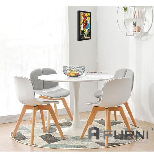 Bộ bàn ăn hiện đại BA TULIP DOLL 4 ghế giá rẻ HCM