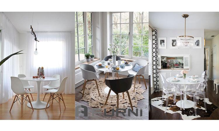 Bộ bàn ghế Tulip dành cho tư vấn tiếp khách hoặc làm bộ bàn ghế phòng ăn
