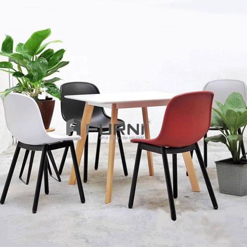 Bộ bàn ghế ăn bằng gỗ rộng 80 BA LEXI NEU 08