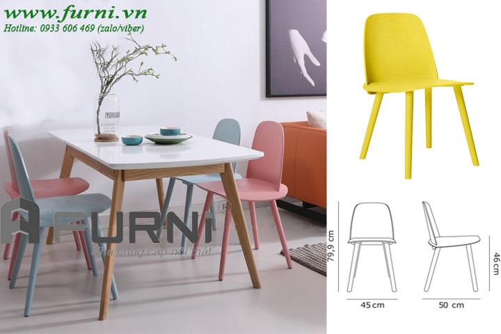 Bộ bàn ghế ăn vuông cho gia đình BA LEXI NERD