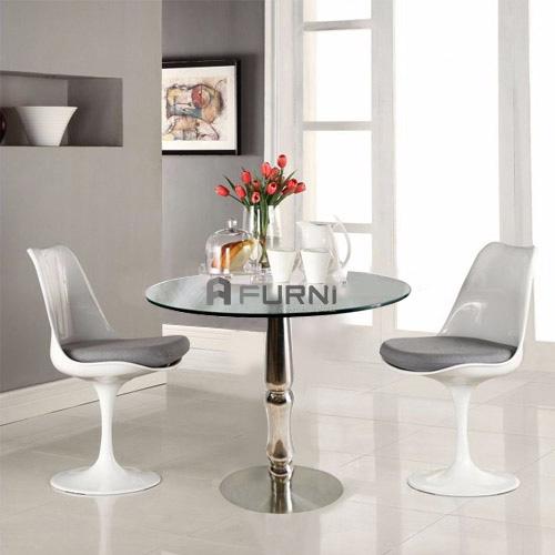 Bộ tiếp khách cao cấp cho showroom spa 2 ghế tulip nệm xám TK 1510 TULIP