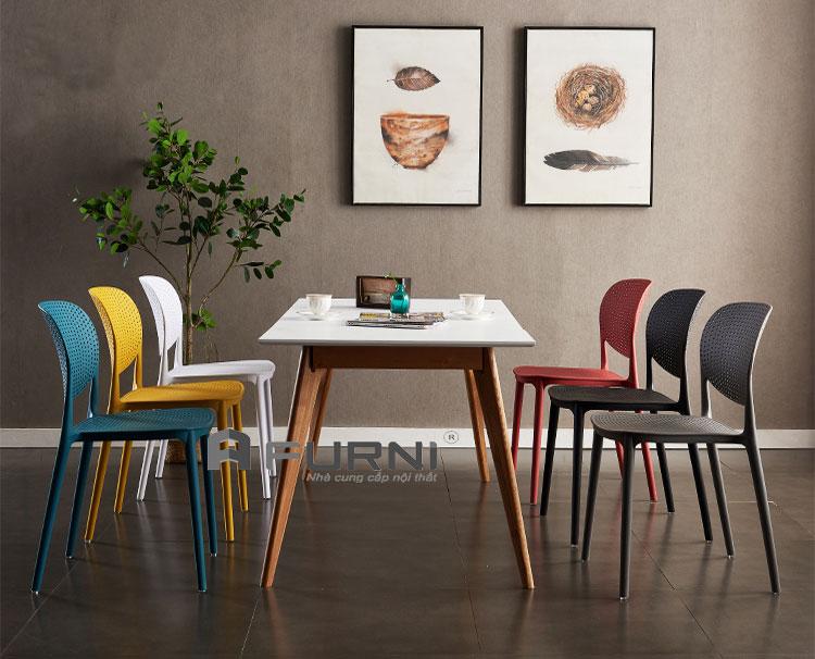 Bộ bàn ăn BA LEXI 12 gia đình dành cho 6 người tại chung cư cao cấp HCM