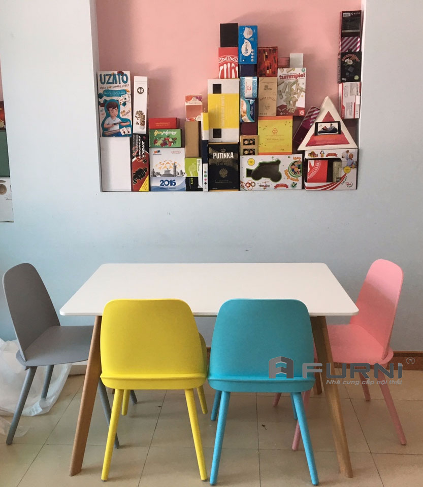 Bộ bàn ghế BA LEXI NERD 12 màu sắc trẻ trung năng động dài riêng cho căn hộ mini tại HCM