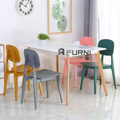 Bộ bàn ghế ăn 4 ghế bàn dài 1m2 dành cho căn hộ chưng có diện tích nhỏ BA LEXI BUNNY 12