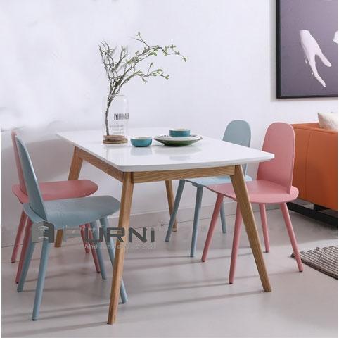 Bộ bàn ghế ăn 4 ghế cho chung cư mini tại HCM BA LEXI NERD