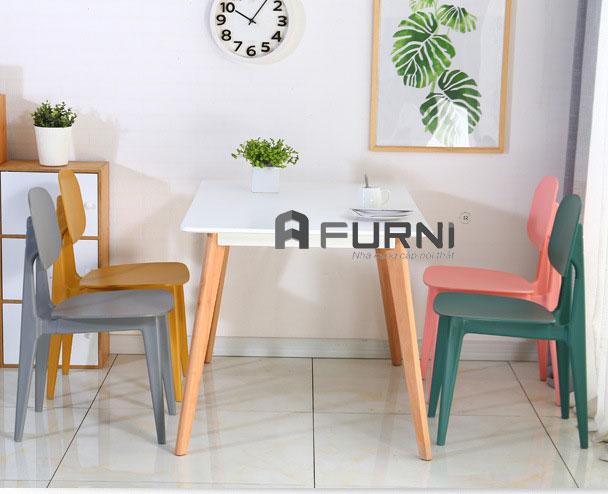 Bộ bàn ghế ăn BA LEXI BUNNY 12 gồm 4 ghế cho căn hộ mini tại HCM