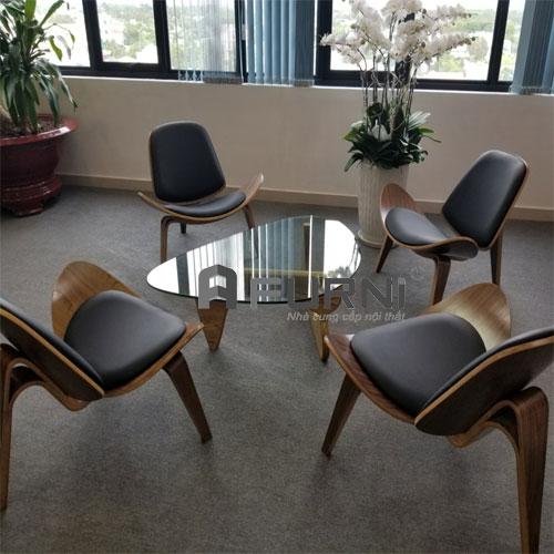 Bô bàn ghế thư giãn tiếp TG NOGUCHI SHELL nhập khẩu cao cấp kiểu dáng ấn tượng cho nhiều không gian tại HCM