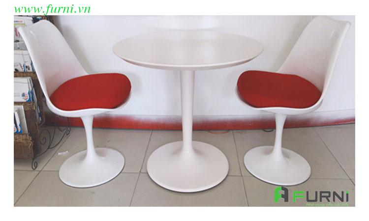 Bộ bàn ghế tiếp khách cửa hàng spa 2 ghế TK TULIP 06