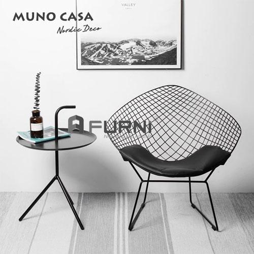Bộ đôi bàn ghế BT DLM DIAMOND dành cho ban công căn hộ mini
