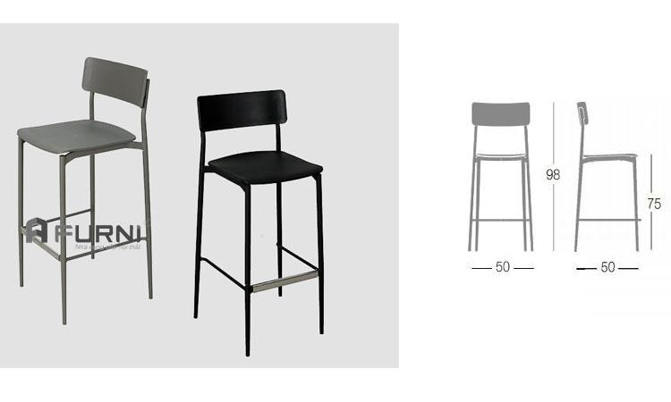 Bộ đôi ghế quầy bar cao cấp CB CULT cao cấp cho quán bar hiện đại tại HCM