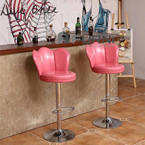 Bộ đôi quầy bar đảo bếp CB 2248-P màu hồng thân xoay có thể tăng giảm độ cao