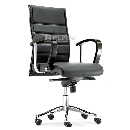 Ghế văn phòng nỉ, da lưng cao, chân xoay