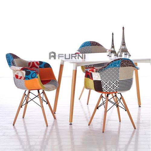 Ghế DAW-F cùng bàn TE DAW-12W thành bộ bàn ghế đẹp, hiện đại
