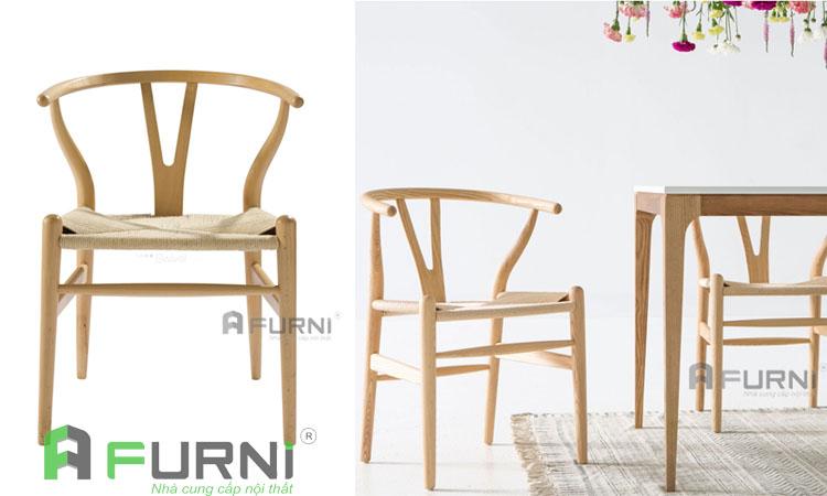Ghế gỗ wishbone cao cấp biểu tượng của ngành nội thất