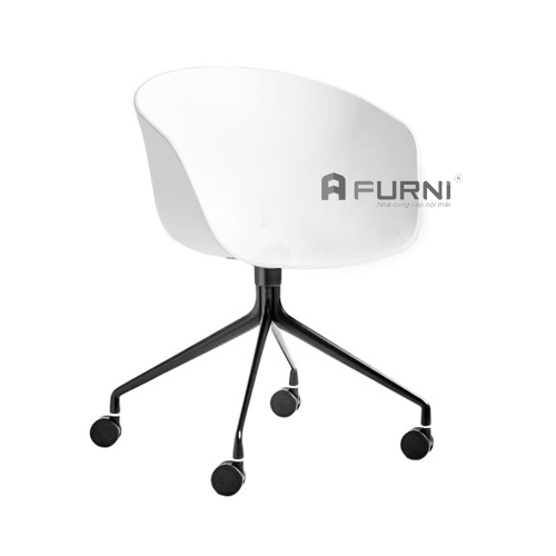 Ghế làm việc, ghế phòng họp văn phòng đẹp thoải mái cao cấp TPHCM AAC-S12 trắng