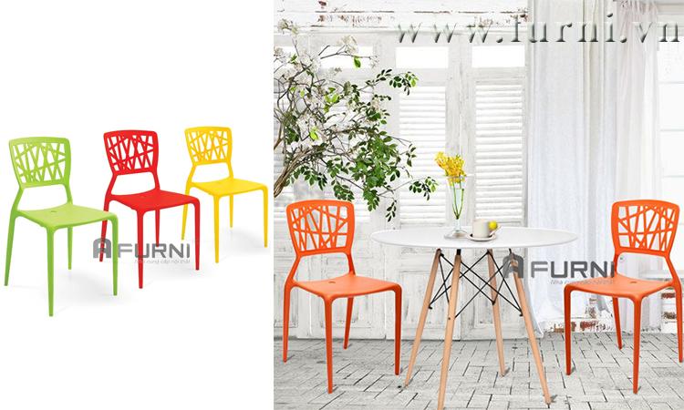 Ghế nhà hàng nhựa đúc 100% đẹp hiện đại nhiều màu VIENTO-S