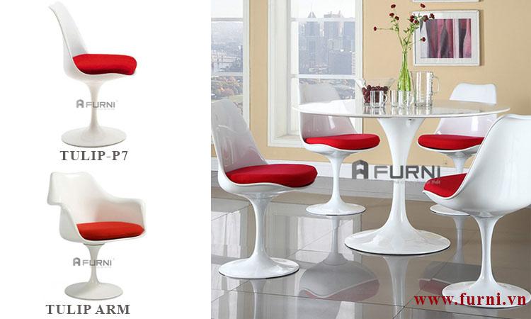 Ghế phòng ăn có nệm hiện đại TULIP-P7 cho căn hộ chung cư cao cấp