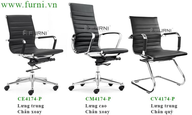 Ghế xoay bọc simili ( PVC) cao cấp mẫu mới cho nhân viên văn phòng CE4174-P