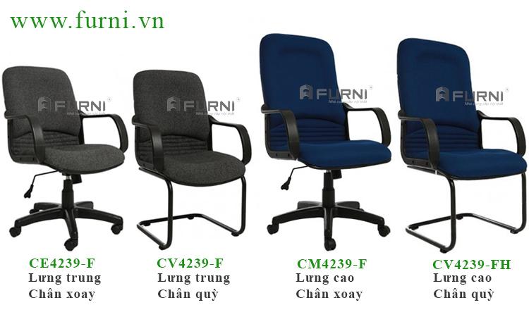 Ghế xoay bọc vải toàn thân thoải mái giá rẻ cho nhân viên văn phòng CE4239-F