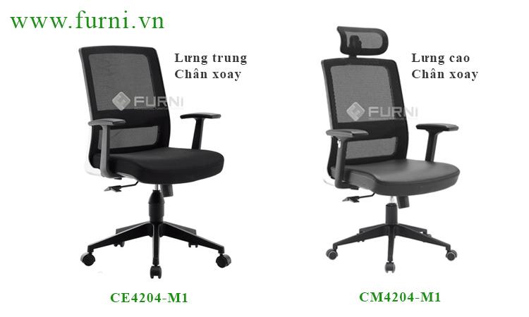 Ghế xoay lưng lưới chất lượng tốt cho nhân viên văn phòng CE4204-M1