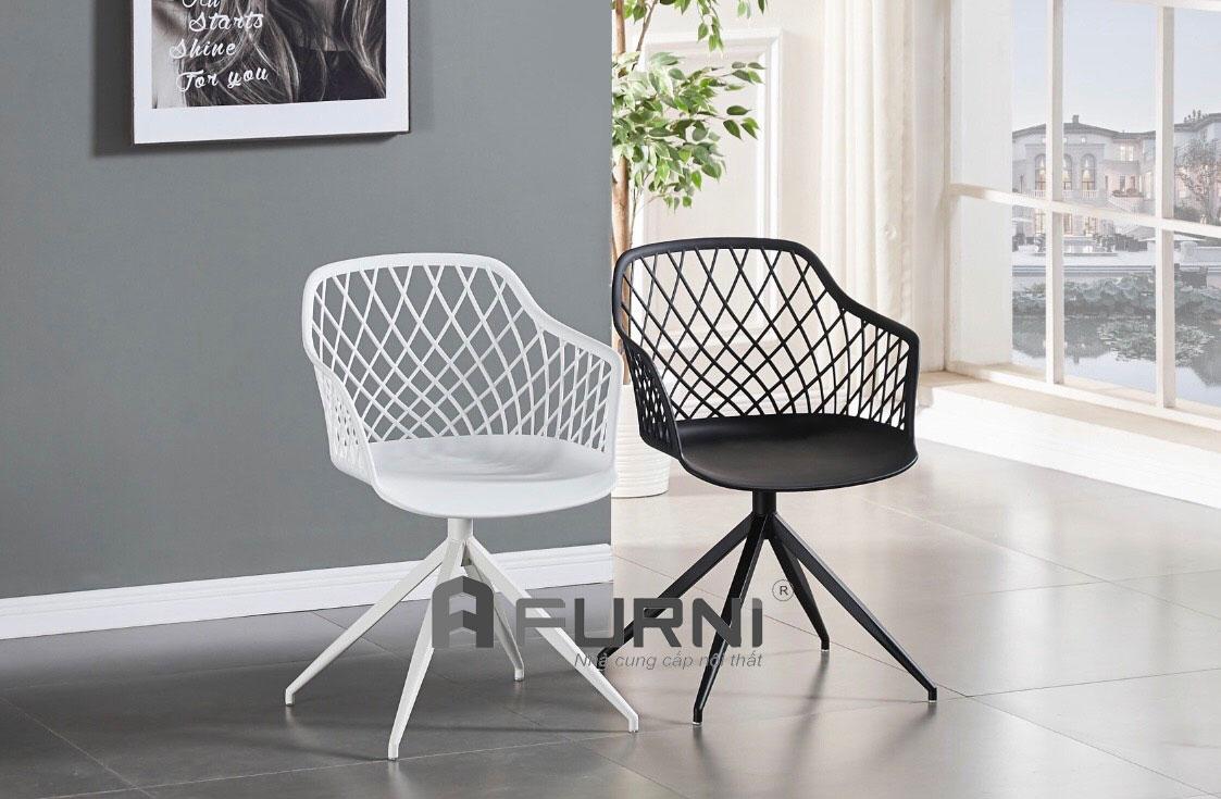 Ghế cafe MESH A-S với 2 màu trắng đen đơn giản