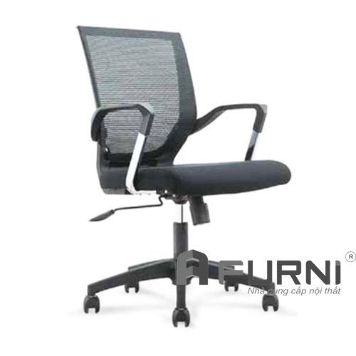 Ghế văn phòng tay nhựa kim loại CE 4171-M chân nhựa đen