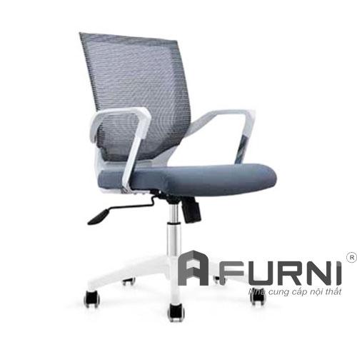 Ghế văn phòng tay nhựa kim loại CE 4171-M chân nhựa trắng