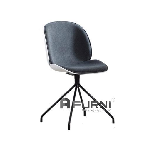 Ghế BEETLE B-F1 bọc nệm vải chân thép sơn tĩnh điện màu đen