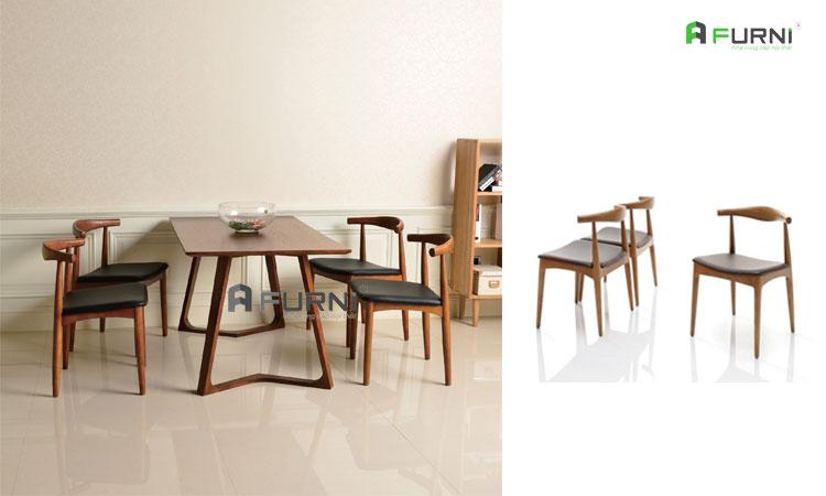 Ghế ăn bằng gỗ tự nhiên BULL nhập khẩu mang phong cách hiện đại
