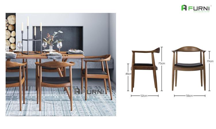 Ghế gỗ tự nhiên KENNEDY phong cách Châu Âu nhập khẩu tại HCM