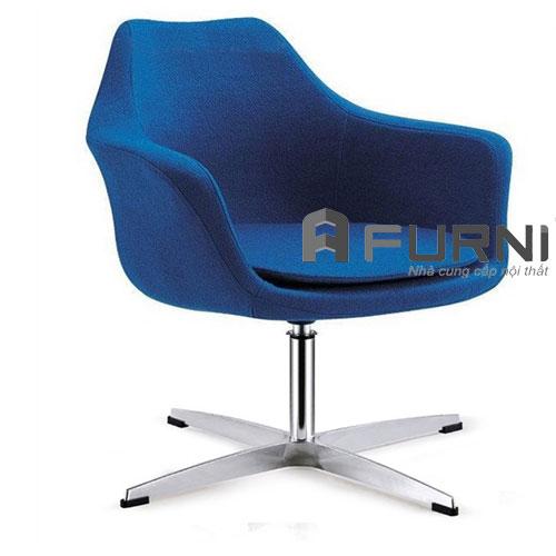 Ghế thư giãn CL1225-F màu xanh dương đậm dành cho phòng khách showroom oto cao cấp
