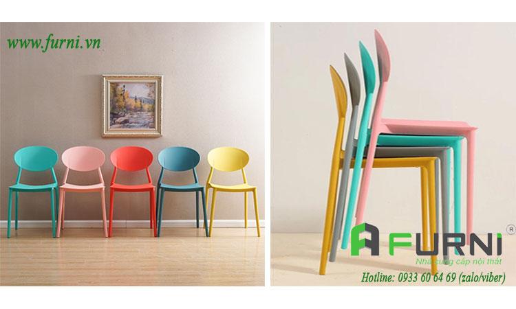 Ghế tiếp khách CC1520 nhựa PP đúc nhiều màu giá rẻ tại tp hcm