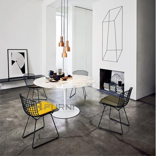 ghế cafe thư giãn thép sơn tĩnh điện nhập khẩu cao cấp hiện đại harry bertoia 2