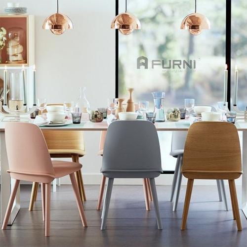 Bộ bàn ăn sử dụng ghế NERD mang lại cảm giác trẻ trung, hiện đại