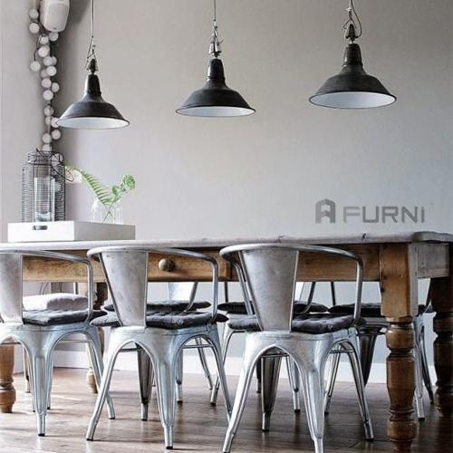 Ghế thép sơn tĩnh điện có tay Tolix Arms dùng cho ghế ăn, ghế nhà hàng, cafe