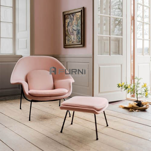 Ghế thư giản womb chair màu hồng ngọt ngào giá tốt nhất tại nội thất Furni