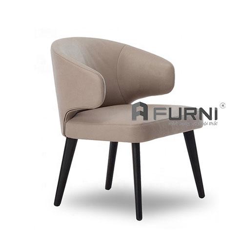 ghế phòng ăn có tay vin bọc nệm chân gỗ cao cấp