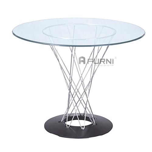bàn ăn tròn đẹp mặt kính đẹp hiện đại Cyclone-08G