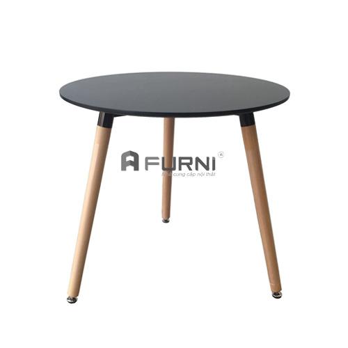 bàn tròn cafe fastfood hiện đại TE DAW-08W đen