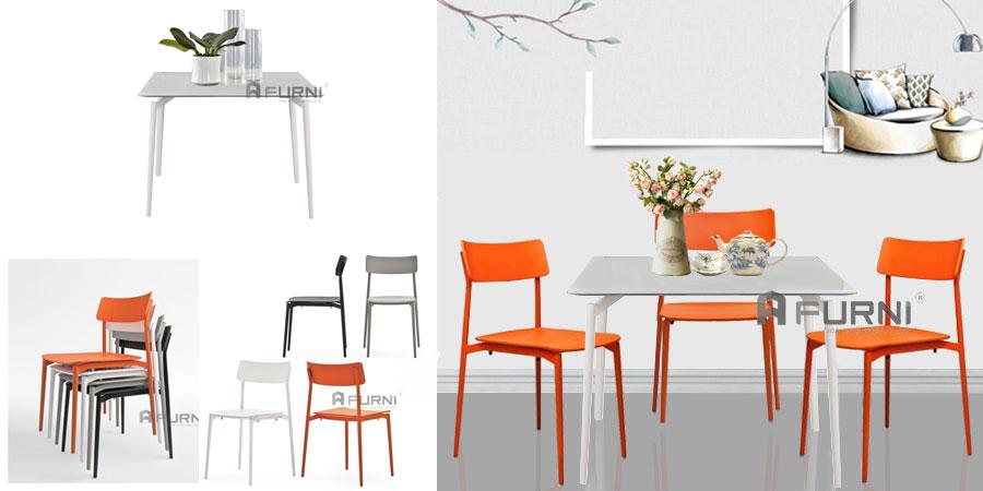 Bàn ghế ăn nhỏ gọn hiện đại dành cho căn hộ chung cư