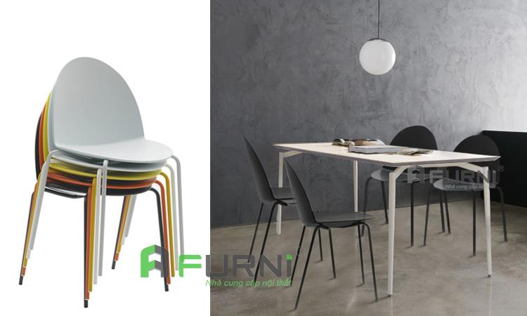 Mẫu ghế xếp chồng bền, đẹp, hiện đại cho không gian nhỏ
