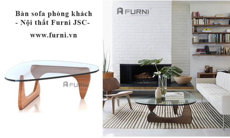 Thiết kế phòng khách đẹp với bàn ghế phong cách hiện đại